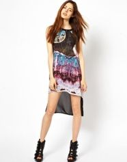 asos. Evil Twin Tunic Dress in Tribute Space Print.