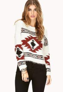 AZTEC SWEATER easy traveler shag sweater