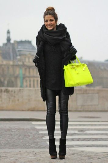 black and neon