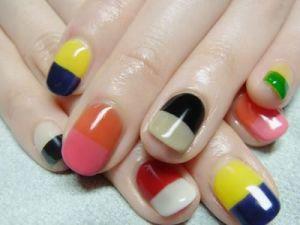 colorblock nail