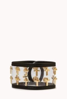 Forever 21. Clear Cut Cross Cuff.