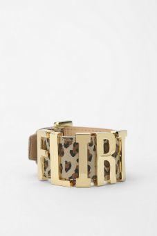 Urban Outfitters. DALLAS + CARLOS Alpha Vincenzo Leopard Bracelet.