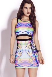 Forever 21. Neon Tropics Bodycon Dress.