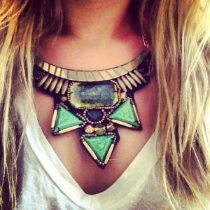 statement necklace real