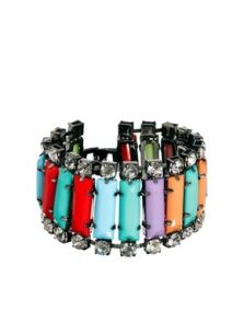 ASOS. Johnny Loves Rosie. Rhinestone & Opaque Bracelet.