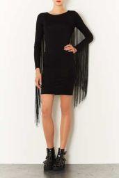 TopShop. Fringe Bodycon Dress.
