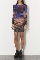 TopShop. Desert Scene Bodycon Dress.