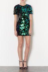 TopShop. Sequin Velvet Dress.