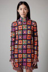 TopShop. Hand Knit Crochet Dress by Meadham Krichhoff.