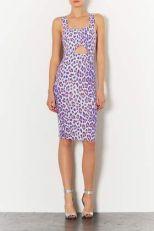 TopShop. Pastel Leopard Cut Out Dress.