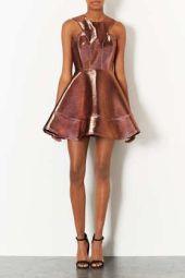 TopShop. 2 Tone Bonded Skater Dress.