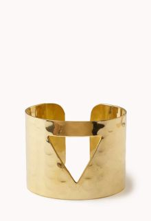 Forever 21. Clear Cut Triangle Cuff.