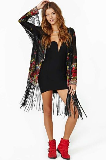 Nasty Gal. http://www.nastygal.com/product/fire-rose-fringe-kimono