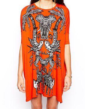 ASOS T-Shirt Dress In Jungle Print $47.05 http://us.asos.com/ASOS-T-Shirt-Dress-In-Jungle-Print/12rgfl/?iid=3919682&cid=15801&sh=0&pge=0&pgesize=204&sort=-1&clr=Red&mporgp=L0FTT1MvQVNPUy1ULVNoaXJ0LURyZXNzLUluLUp1bmdsZS1QcmludC9Qcm9kLw..