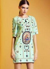 Sheinside. Green Short Sleeve Vintage Bead Floral Dress. $34.99 http://www.sheinside.com/Green-Short-Sleeve-Vintage-Bead-Floral-Dress-p-160719-cat-1727.html