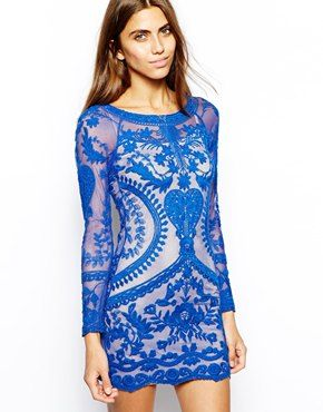 Asos. Goldie All Over Lace Body-Conscious Dress