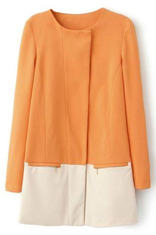 ROMWE. http://www.romwe.com/color-block-zippered-slim-orange-coat-p-73009.html