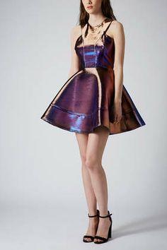 Topshop. TWO TONE BONDED SKATER DRESS $150 http://us.topshop.com/en/tsus/product/clothing-70483/dresses-70497/two-tone-bonded-skater-dress-2709768?bi=1&ps=20