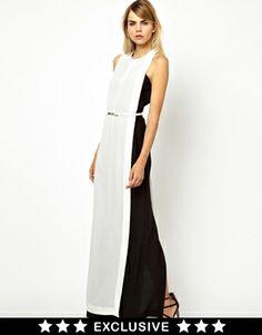 Asos. Solace London Levan Maxi Dress in Color Block $112.91 http://us.asos.com/Solace-London-Levan-Maxi-Dress-in-Color-Block/11hq4r/?iid=3448171&cid=15801&sh=0&pge=5&pgesize=204&sort=-1&clr=Black/white&mporgp=L1NvbGFjZS9Tb2xhY2UtTG9uZG9uLUxldmFuLU1heGktRHJlc3MtaW4tQ29sb3VyLUJsb2NrL1Byb2Qv