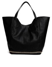 Asos Shopper Bag with Chain Trim. $56.46 http://us.asos.com/ASOS/ASOS-Shopper-Bag-With-Chain-Trim/Prod/pgeproduct.aspx?iid=3657429&cid=8730&sh=0&pge=0&pgesize=204&sort=-1&clr=Black