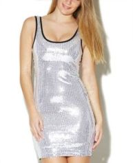 Wet Seal. SHINY SEQUINED TANK BODYCON DRESS $23.99 http://www.wetseal.com/shiny-sequined-tank-bodycon-dress-49082753.html?dwvar_49082753_color=20#start=97&sz=96